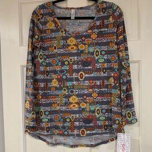 LuLaRoe multi-colored Lynnae shirt S NWT